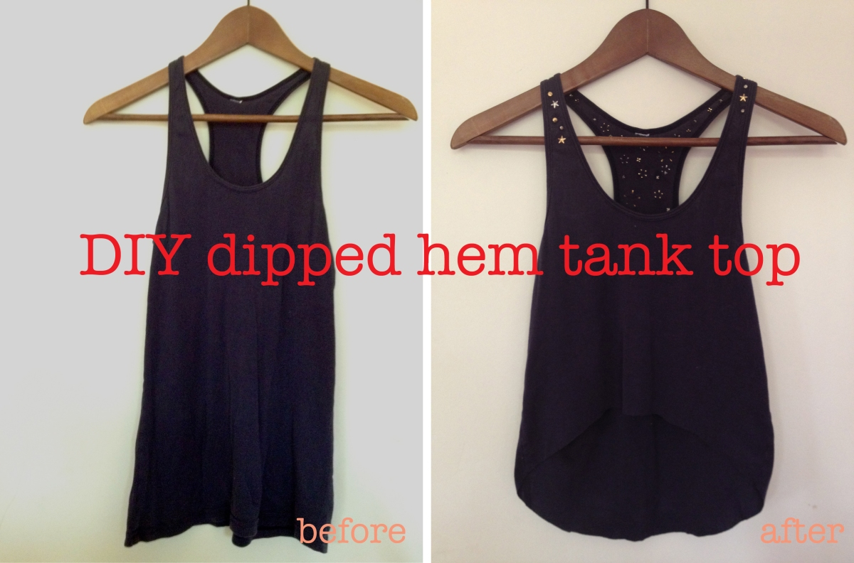 DIY dipped hem tank top | By Hand London