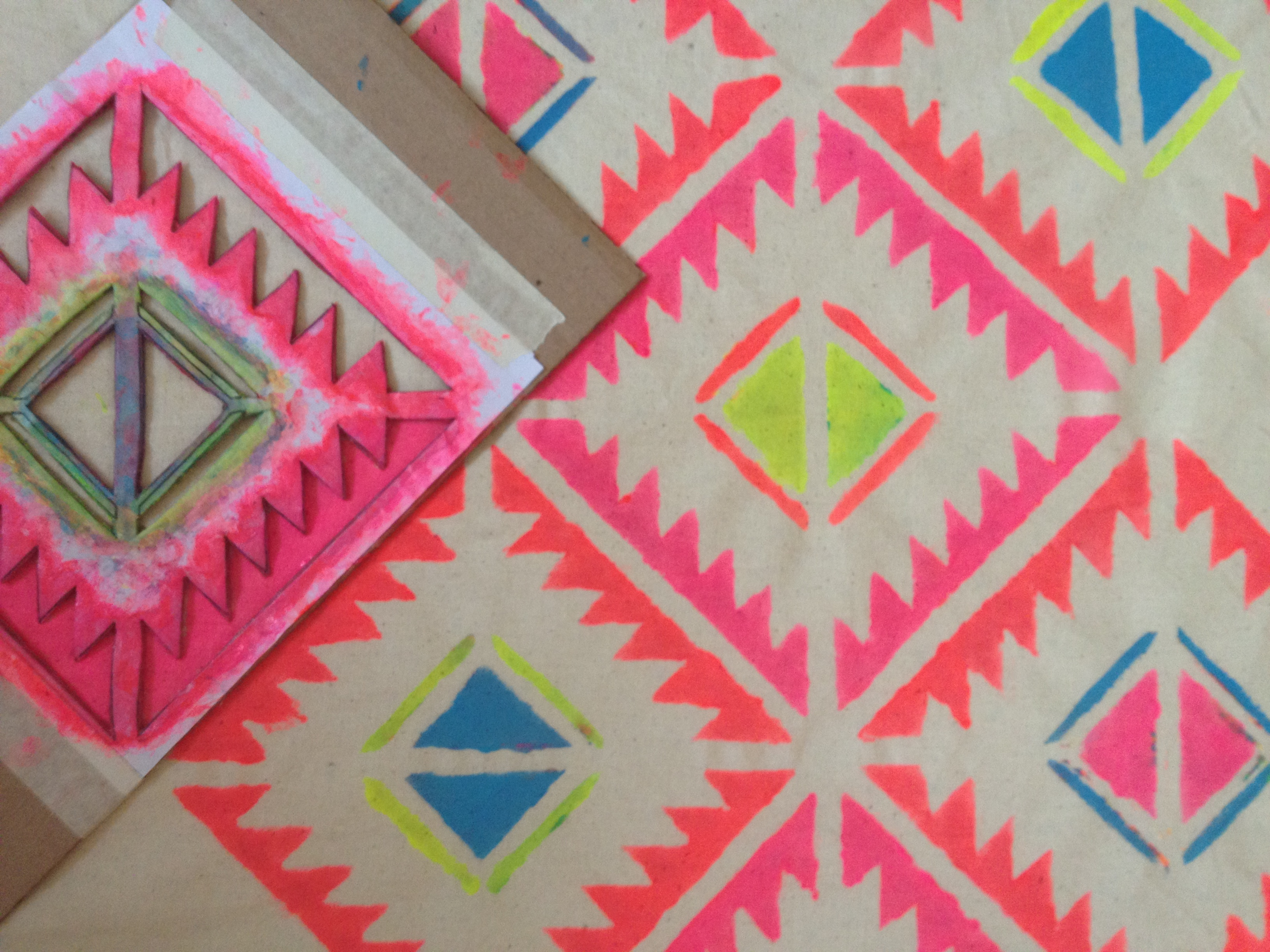 Adventures in fabric painting | By Hand London